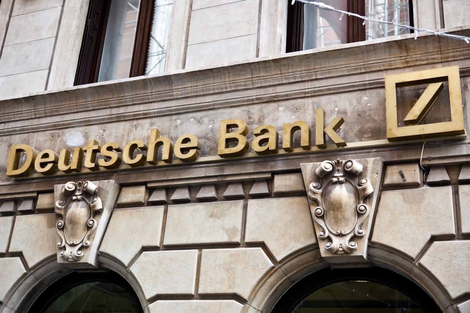 Deutsche Bank sign