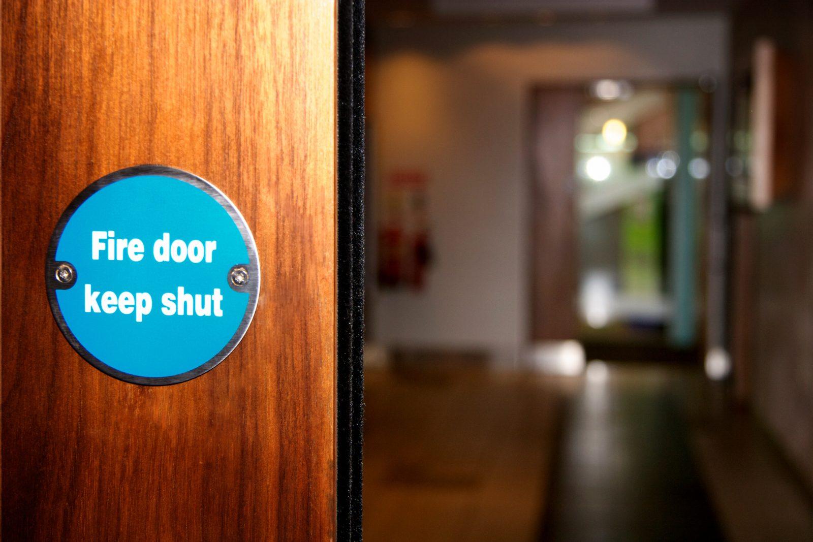 Fire door at Birmingham government building