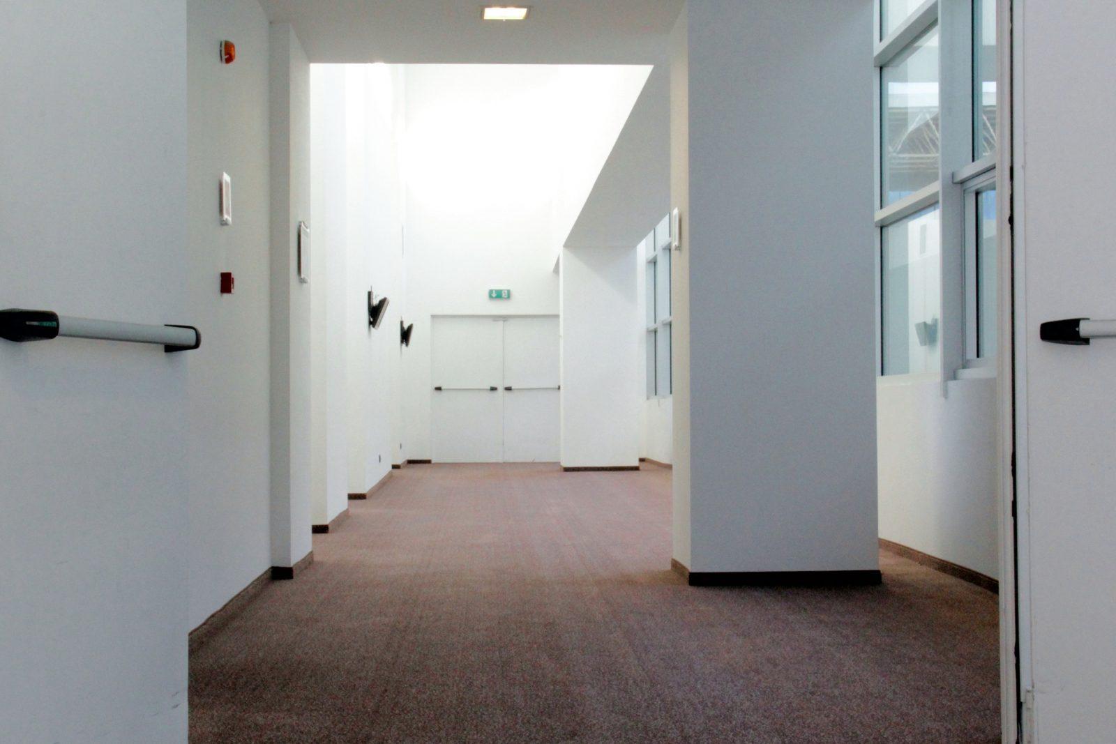 Corridor to fire safety door