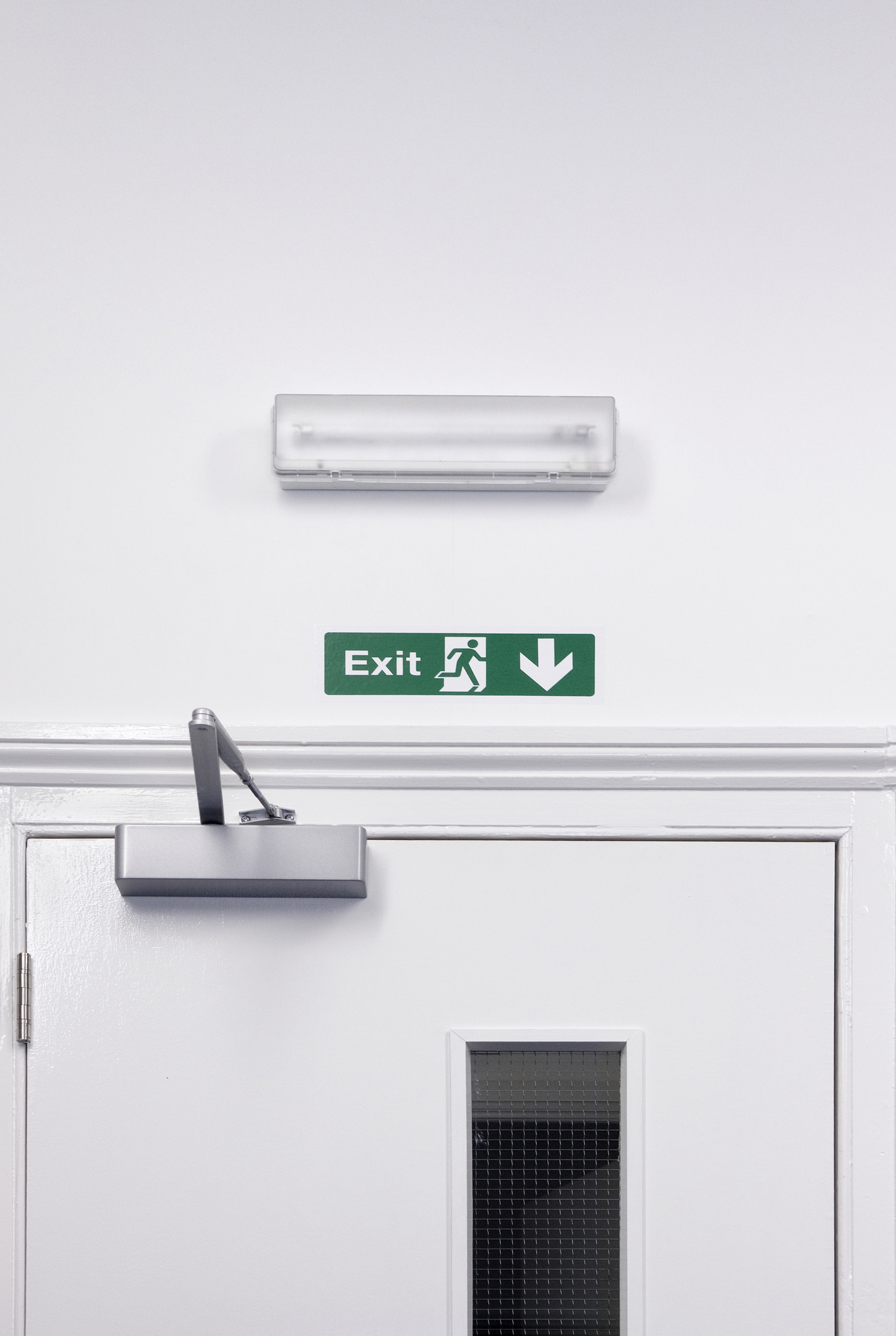 Fire safety solution emergency exit door